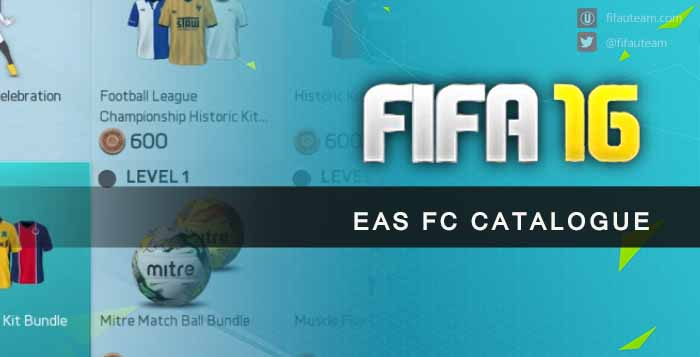 EAS FC Catalogue Guide for FIFA 16 Ultimate Team