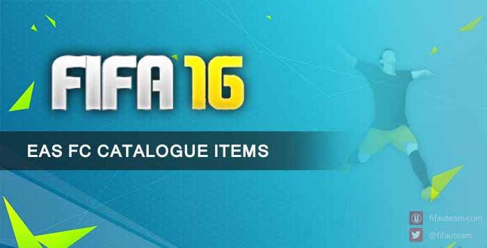 EAS FC Catalogue Items for FIFA 16 Ultimate Team