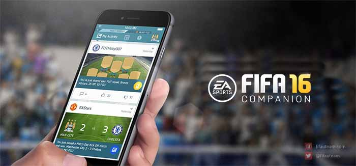 Companion App de FIFA 16 para iOS, Android e Windows Phone