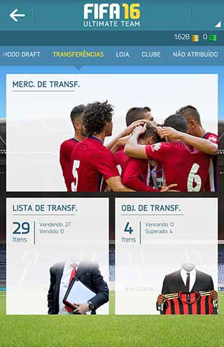 Companion App para FIFA 16 para iOS, Android e Windows Phone