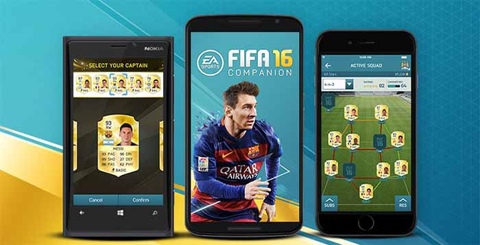 FIFA 16 Companion App for iOS, Android and Windows Phone
