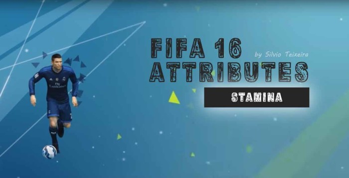 Learning about FIFA 16 attributes: Stamina