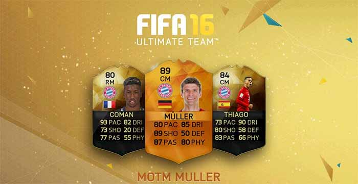 Todas as Cartas Man of the Match (MOTM) de FIFA 16
