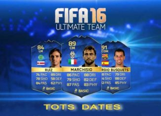 TOTS Dates for FIFA 16 Ultimate Team