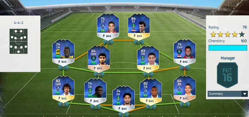 FUT 16 ALJ League TOTS (Saudi Arabian League)