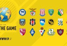 FIFA 17 Leagues, Clubs and National Teams