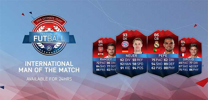 Todas as Cartas International Man of the Match (iMOTM) de FIFA 16