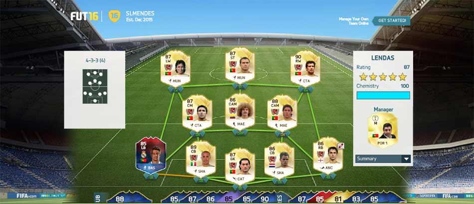 As Melhores Equipas de FIFA 16 Ultimate Team