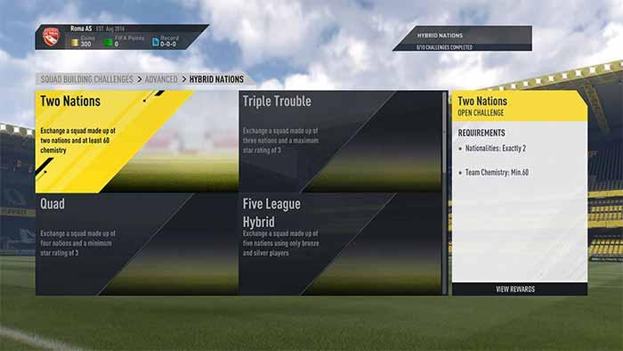 Desafios de Montagem de Elenco para FIFA 17 Ultimate Team