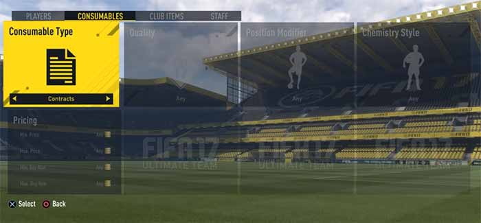Guia de Cartas de Contratos para FIFA 17 Ultimate Team
