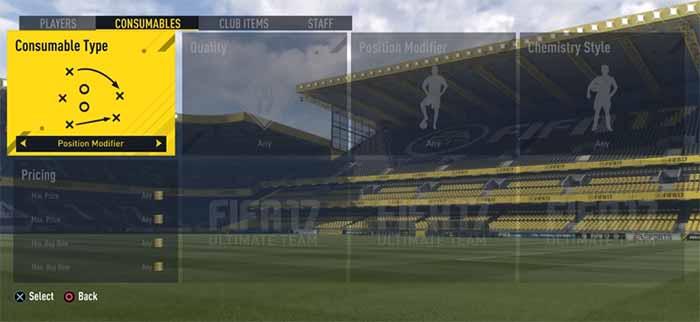 Guia de Cartas de Mudança de Posição para FIFA 17