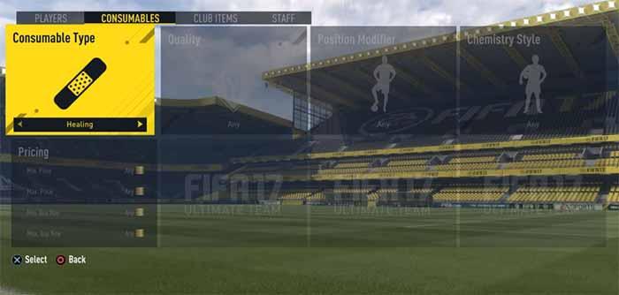Guia de Cartas de Tratamento para FIFA 17 Ultimate Team