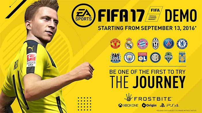 Demo de FIFA 17 - Datas, Equipas, Modos de Jogo e Download