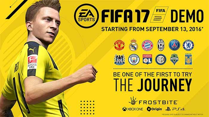 Demo de FIFA 17 - Datas, Equipas, Modos de Jogo e Download