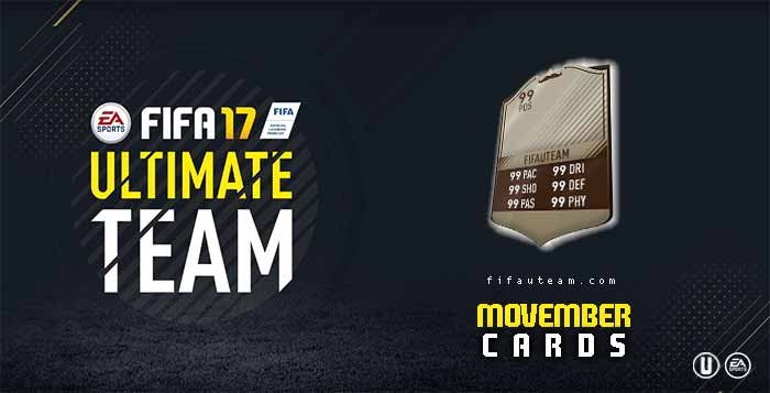 FIFA 17 Players Cards Guide - Movember Cards