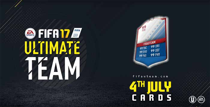 FIFA 17 Players Cards Guide - 4th July Cards