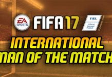 FIFA 17 International Man of the Match Cards List