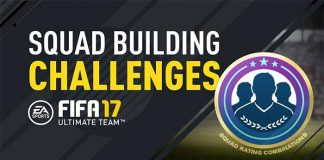 FIFA 17 Squad Building Challenges Requirements - Squad Rating Combinations