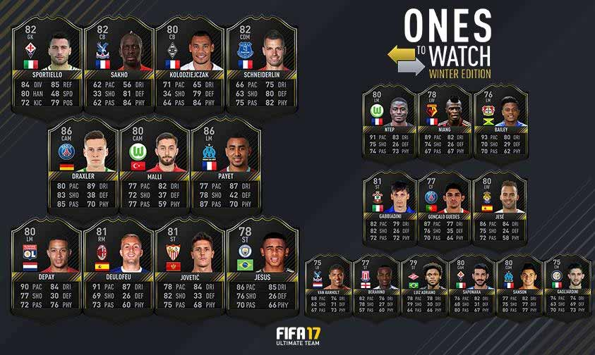 Segunda Edição das Cartas Fique de Olho de FIFA 17