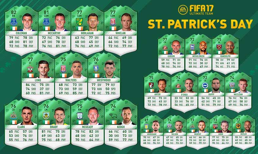 The Green Team of the FIFA 17 St Patrick's Day