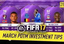 FIFA 17 March Premier League POTM Investment Tips