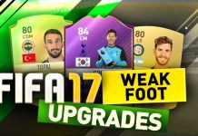 FIFA 17 Weak Foot Upgrades