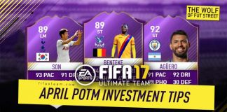 FIFA 17 April Premier League POTM Investment Tips
