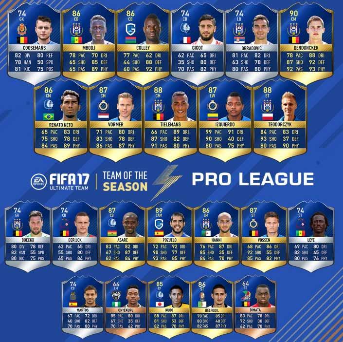 fifa 17 jupiler pro league team of the season belgian league