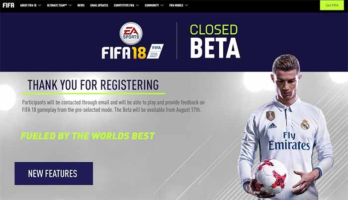 FIFA 18 Closed Beta Short Guide