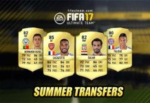 FIFA 17 Summer Transfers List