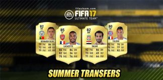 FIFA 17 Summer Transfers List