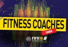 FIFA 18 Fitness Coaches Cards Guide