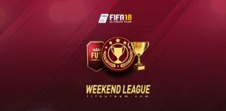 FIFA 18 Weekend League Calendar