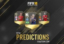 FIFA 18 Team of the Week Predictions