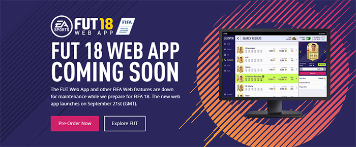 FIFA 18 Web App Release Date and FUT Webstart Details