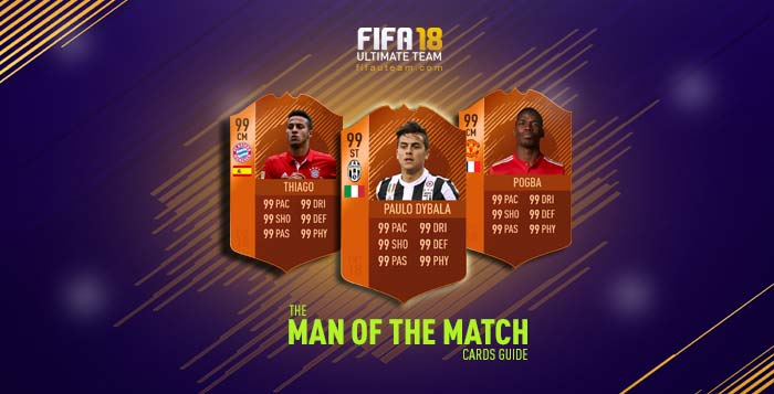 FIFA 18 Players Cards Guide - MOTM Cards