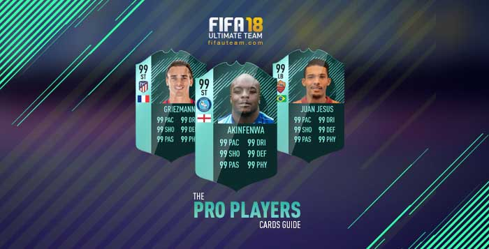 FIFA 18 Players Cards Guide - Pro Players Cards