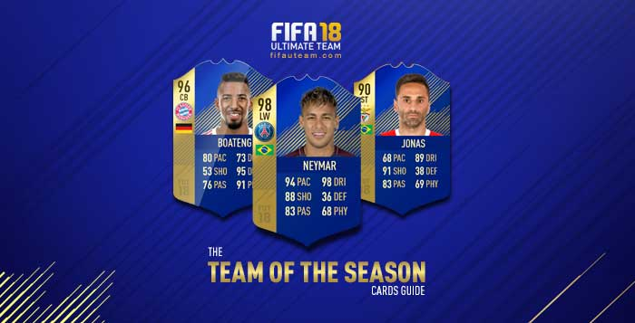 FIFA 18 Players Cards Guide - TOTS Cards