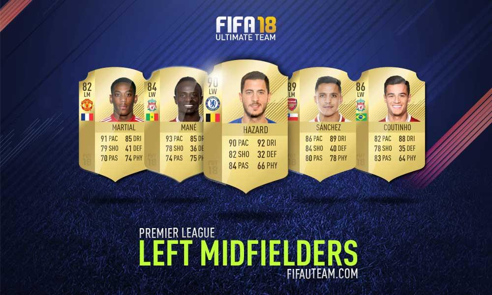 FIFA 18 Premier League Squad Guide - LM, LW e LF