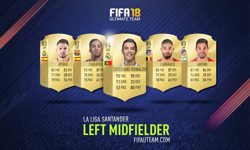 FIFA 18 LaLiga Santander Squad Guide - LM, LW e LF