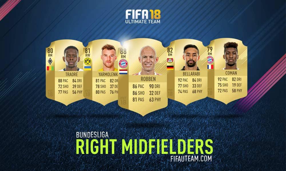 FIFA 18 Bundesliga Squad Guide - RM, RW e RF