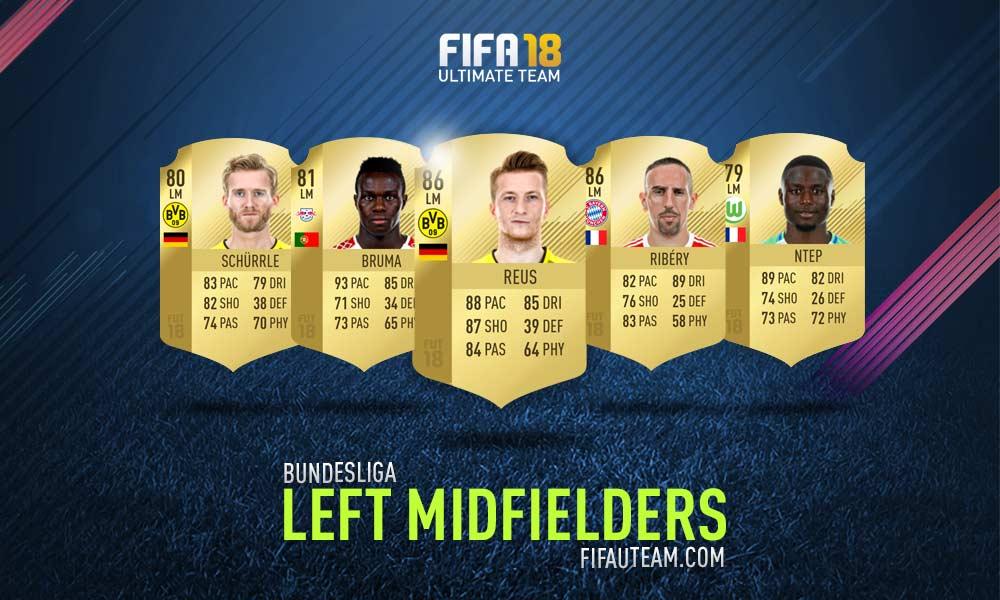 FIFA 18 Bundesliga Squad Guide - LM, LW e LF