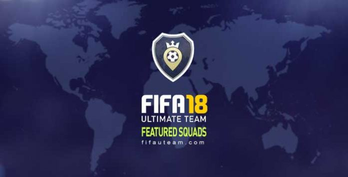 Featured Squads List of FIFA 18 Squad Battles
