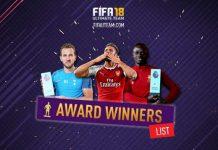 FIFA 18 Award Winner Cards List