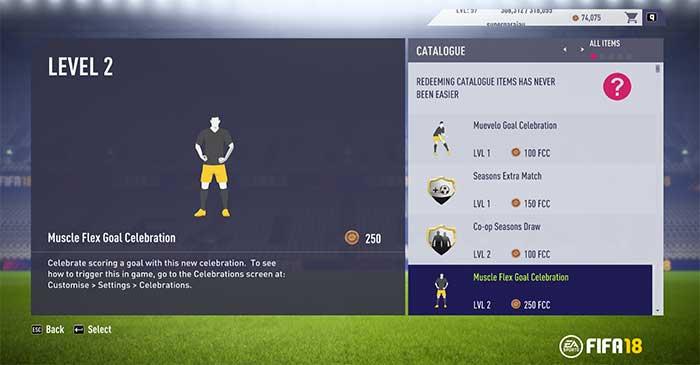FIFA 18 EAS FC Catalogue Guide