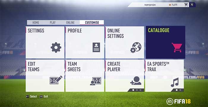 Guia do Catálogo EAS FC para FIFA 18 Ultimate Team