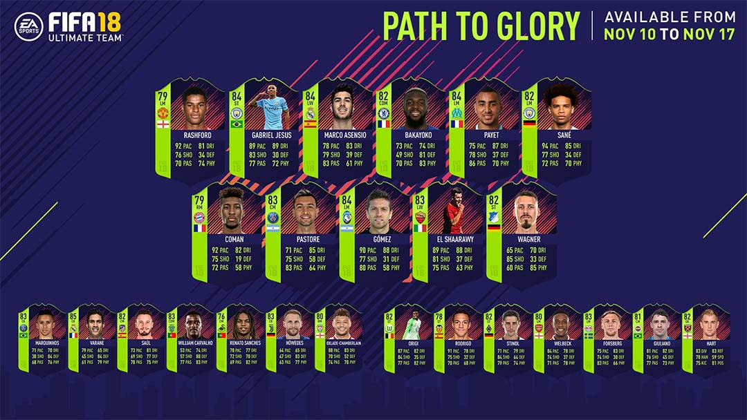 FIFA 18 Path to Glory Cards