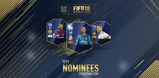 FIFA 18 TOTY Nominees - Team of the Year Players Shortlist