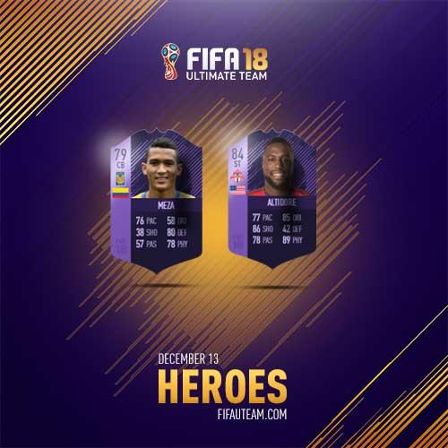 FIFA 18 Heroes Cards List