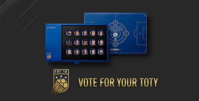 Vote for your Favourite FIFA 18 TOTY